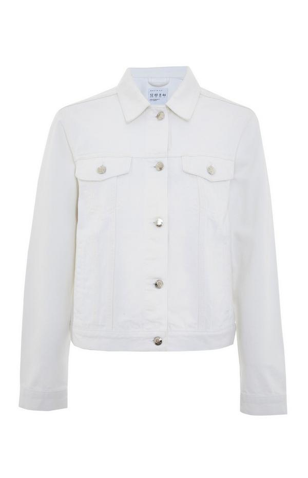 Veste blanche basique en denim