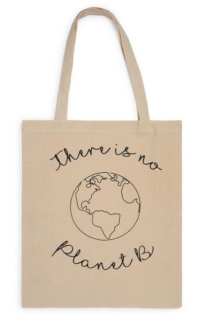 No Planet B Slogan Canvas Shopper Bag
