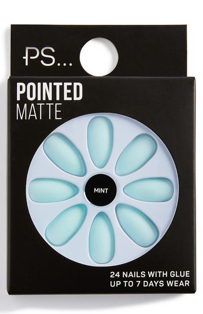 Ps Mint Pointed Matte False Nails