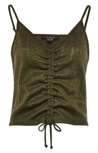 Green Shimmer Cut N Sew String Pull Top