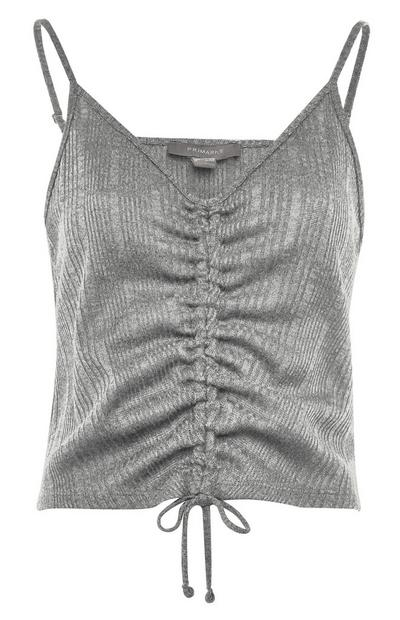 Silver Shimmer Cut N Sew String Pull Top