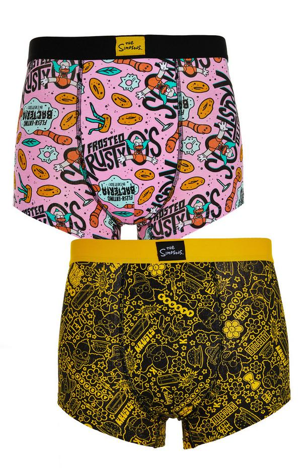 Pink And Yellow The Simpsons Boxers 2 Pack