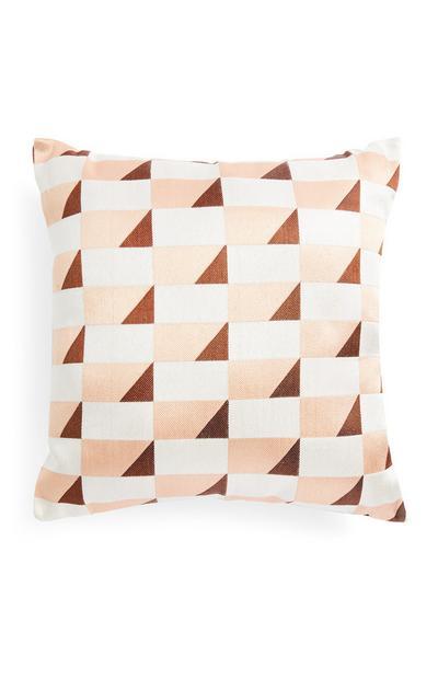 Jacquardkussen met geometrische print