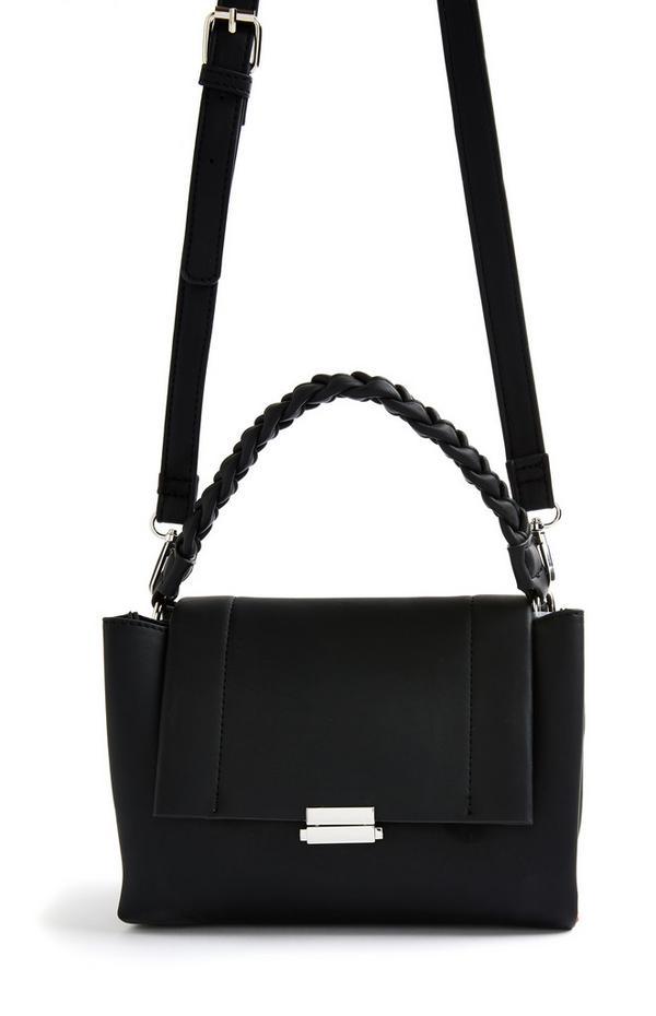 Black Twist Handle Crossbody Bag