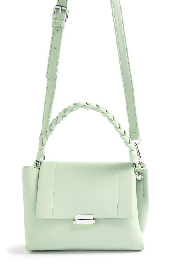 Mint Twist Handle Crossbody Bag