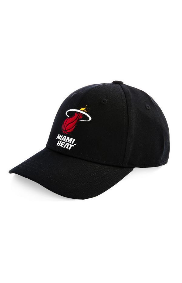 Gorra de béisbol negra de los Miami Heat de la NBA