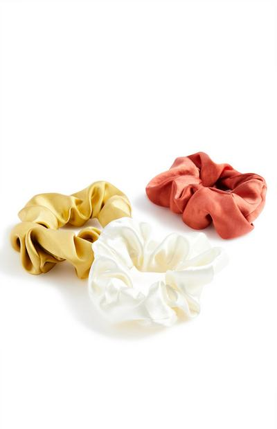 Satin Mix Scrunchie 3 Pack