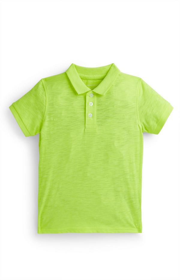 Neongrünes Poloshirt (kleine Jungen)