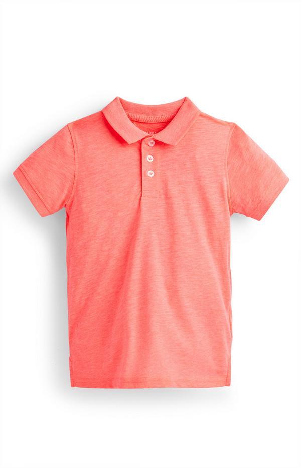 Korallenrotes Poloshirt (kleine Jungen)