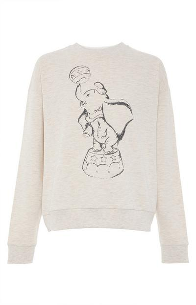 Disney Dumbo Ecru Marl Sketch Sweater