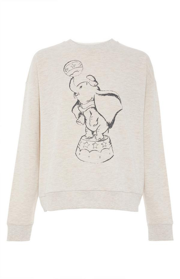 Disney's Dumbo Sketch Sweater in Beige Marl
