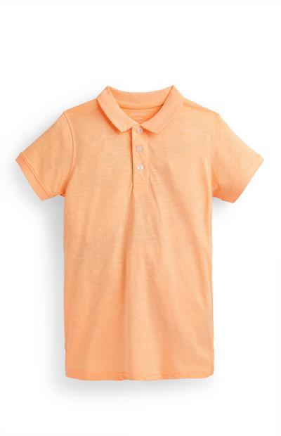 Oranje T-shirt met polokraag voor jongens