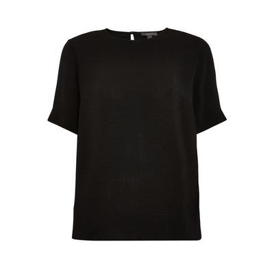 Black Plain T-Shirt Blouse