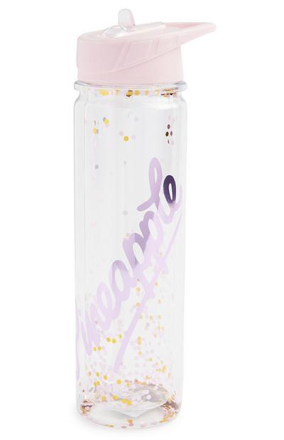 Bottiglia per l'acqua glitterata Pineapple