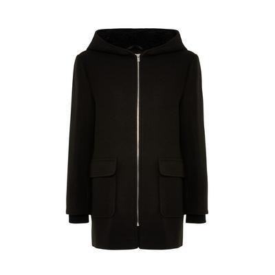 Black Borg Hooded Duffle Coat