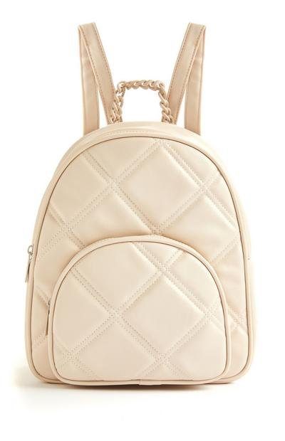 Ecru Quilted Tonal Backpack