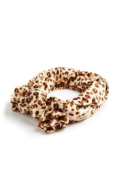 Leopard Print Jersey Scarf