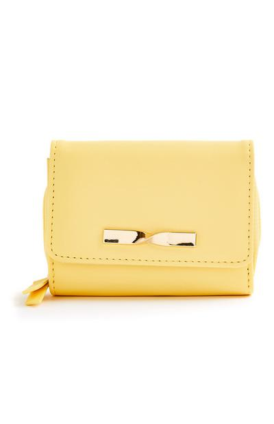 Yellow Medium Twist Bow Purse