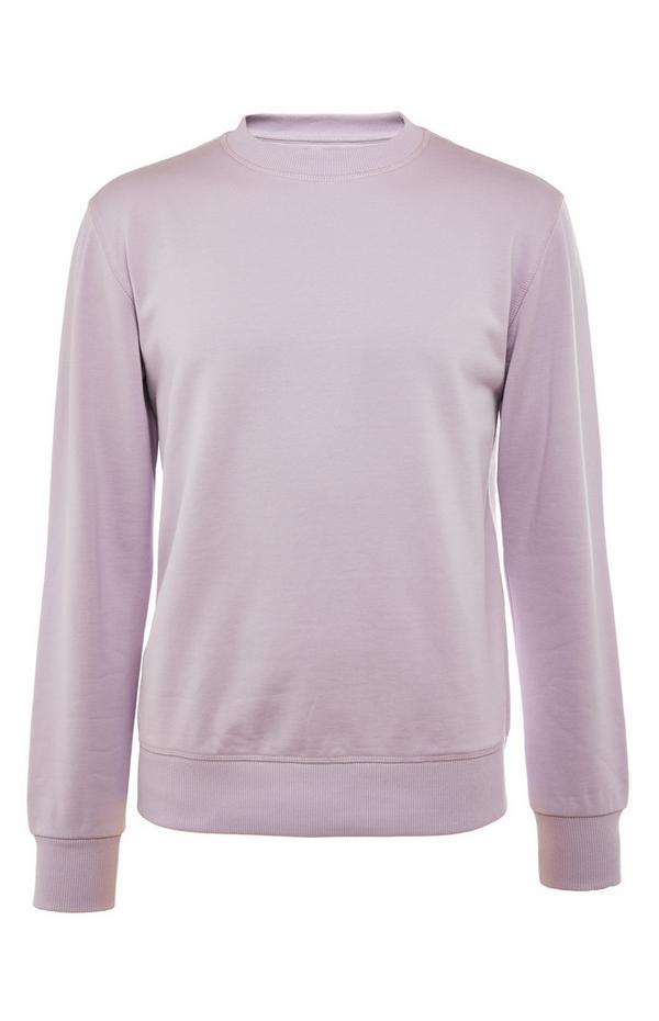 Bledo vijoličast premium bombažni pulover