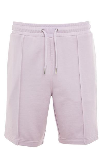 Premium Lilac Cotton Shorts