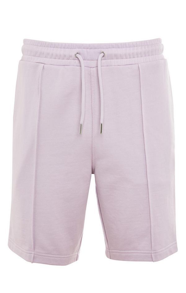 Pantalón corto lila de algodón premium