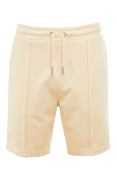 Premium Ecru Cotton Shorts