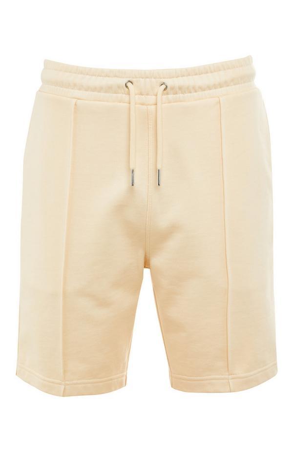 Bež premium bombažne kratke hlače
