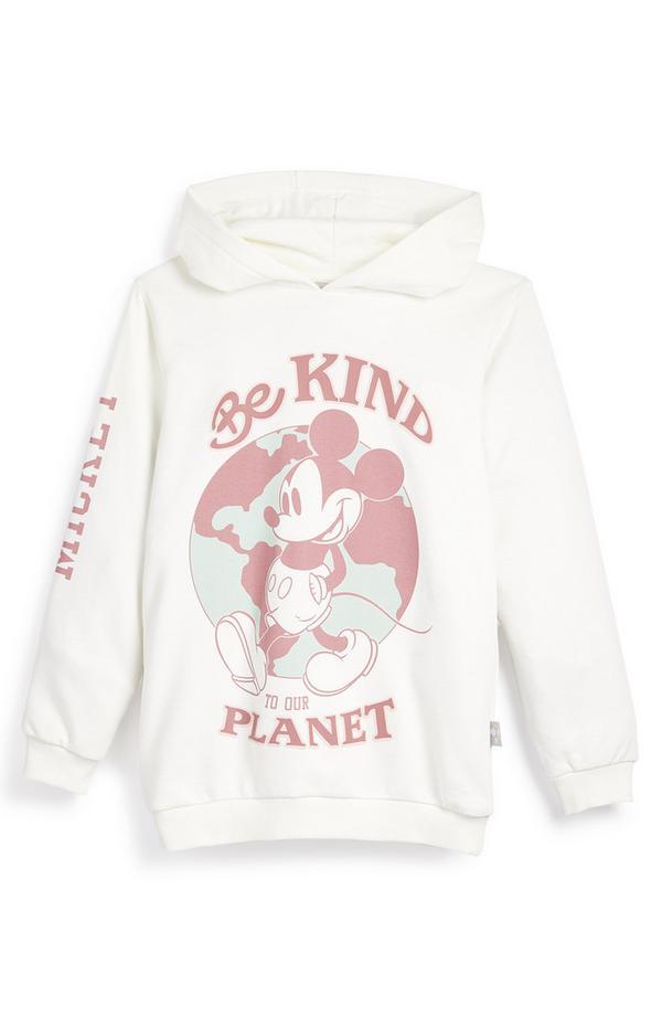 """Weißer """"Primark Cares featuring Disney"""" Micky Maus Planet Kapuzenpullover (kleine Mädchen)"""