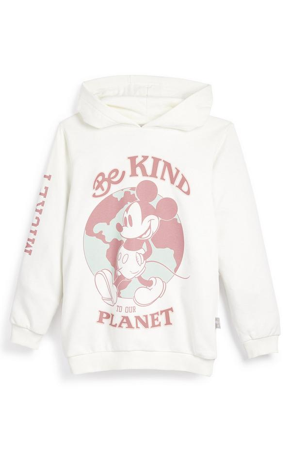 Witte hoodie Primark Cares met Disney Mickey Mouse Planet voor meisjes