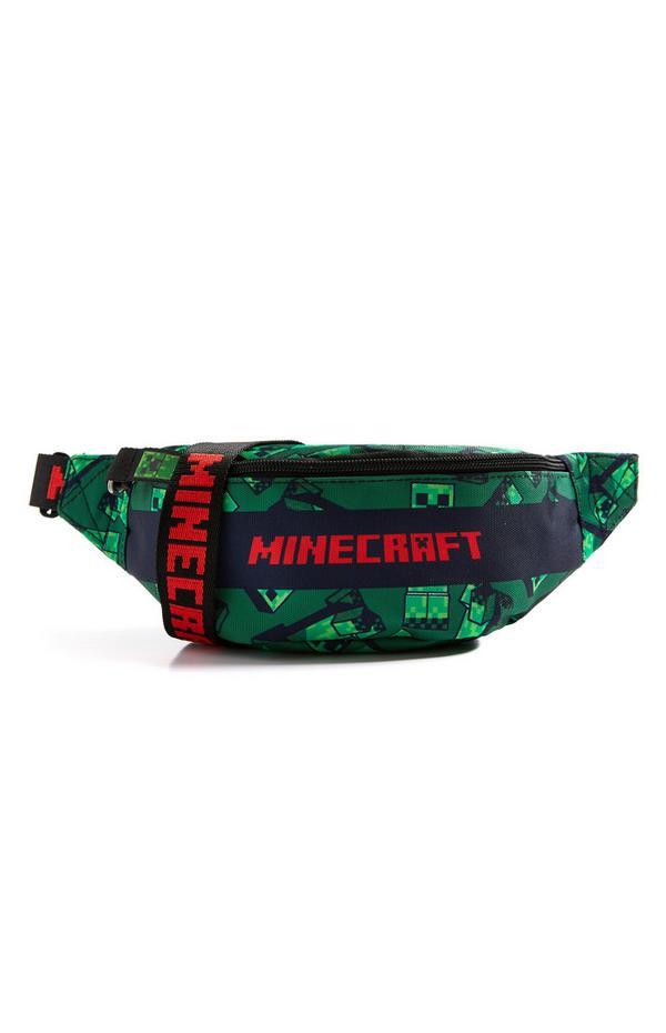 """Grüne """"Minecraft"""" Bauchtasche"""