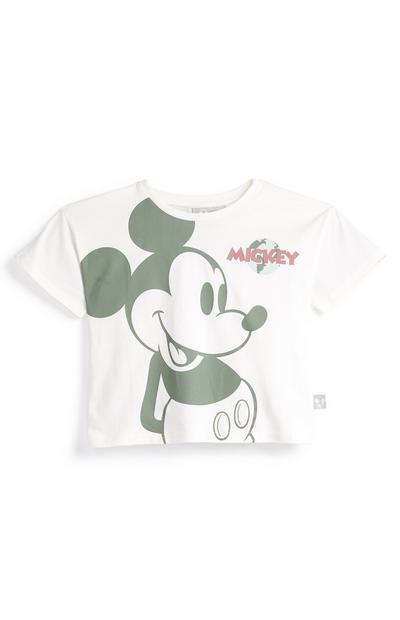 Camiseta blanca de Mickey Mouse de Primark Cares para niña pequeña