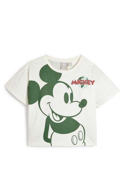 T-shirt Disney Mickey Mouse Primark Cares menina branco