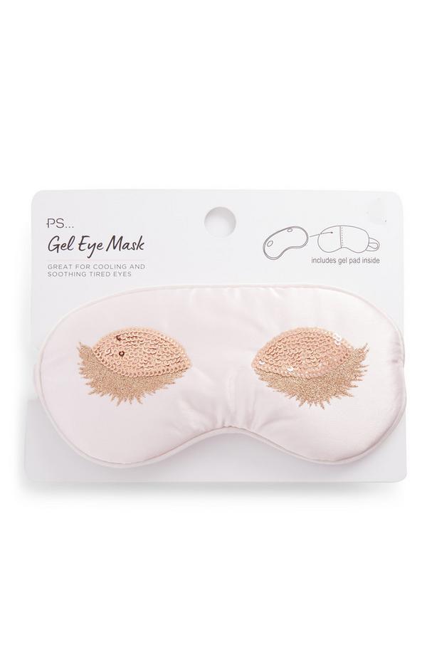 """""""PS"""" Gel-Augenmaske mit Pailletten-Wimpern"""