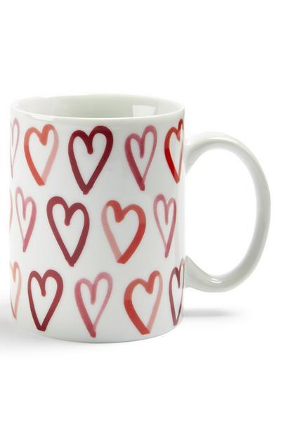 Mug à motif cœurs Saint-Valentin