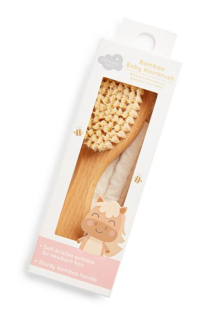 Haarborstel van bamboe voor baby's