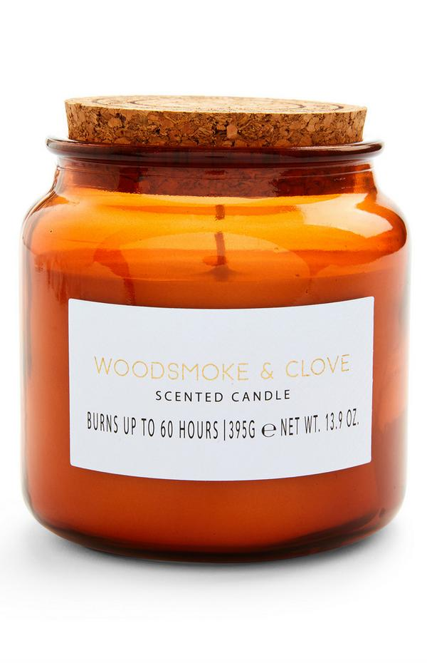 Woodsmoke And Clove Scented Large Cork Lid Candle