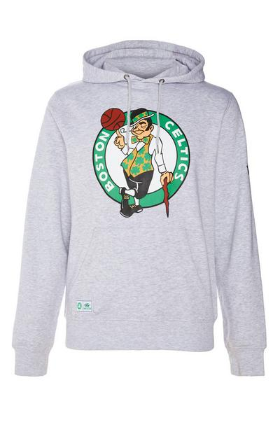 Sweat à capuche gris à enfiler NBA Boston Celtics