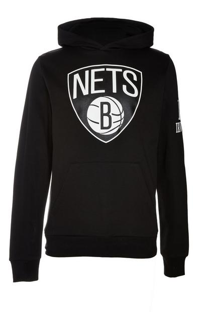 Sweat à capuche noir à enfiler NBA Brooklyn Nets