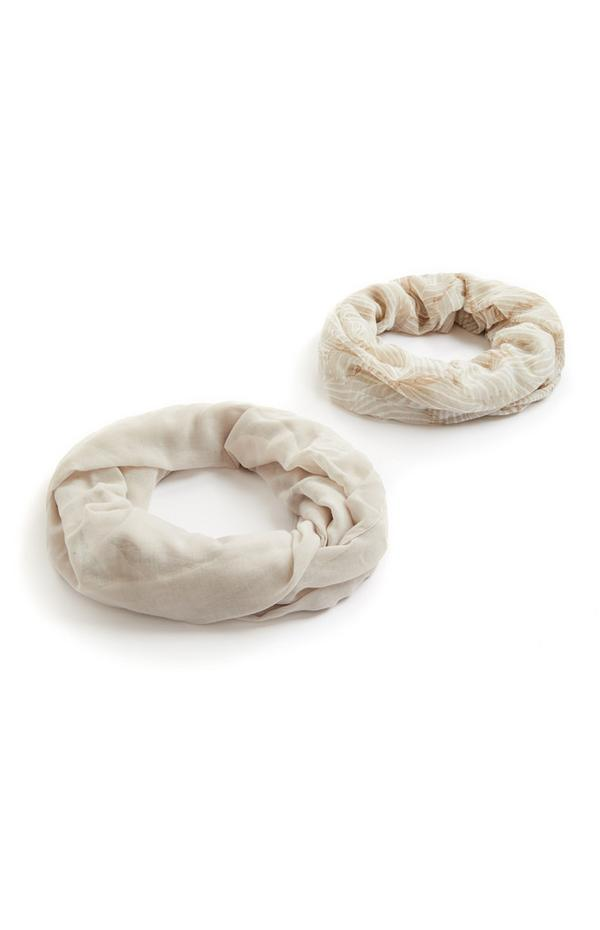 2-Pack Ivory Infinity Scarves