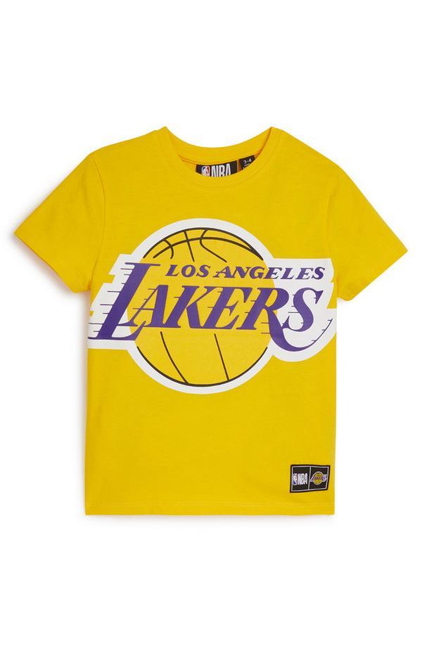 Younger Boy Yellow NBA LA Lakers T-Shirt