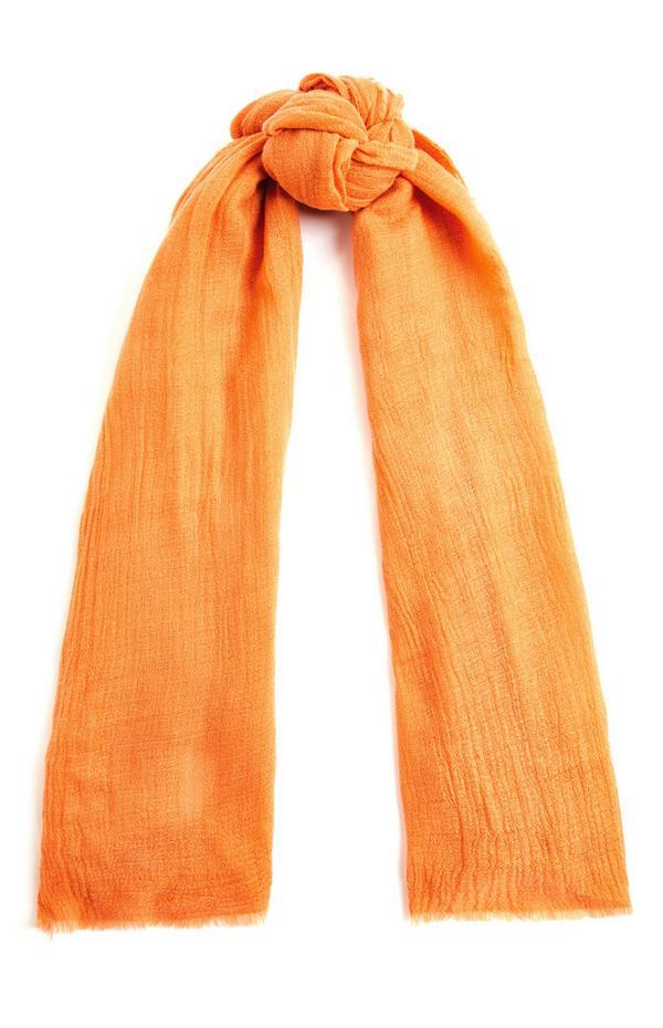 Orange Plain Scarf
