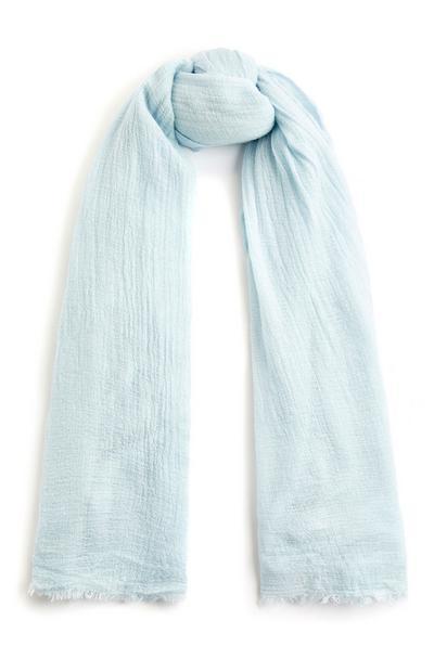 Foulard bleu pâle uni
