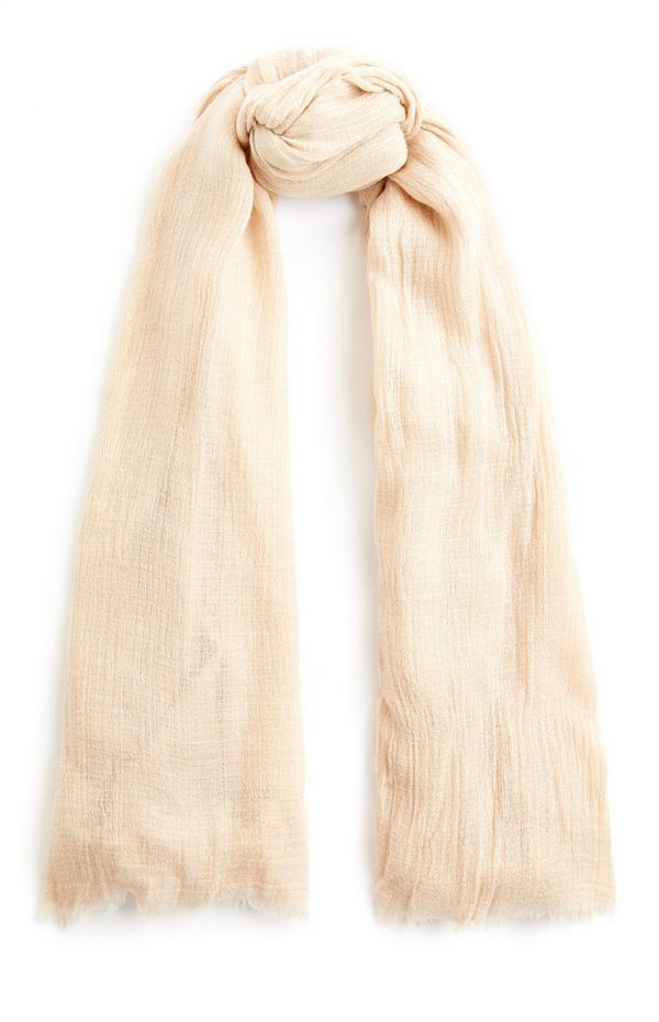Effen ecru sjaal