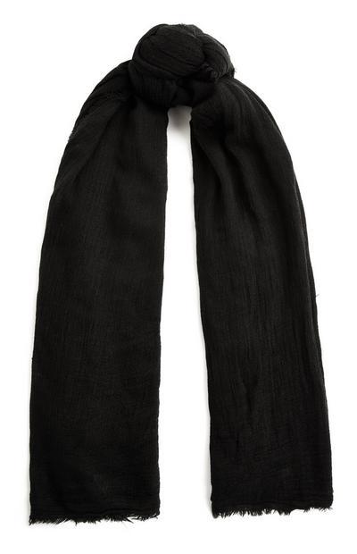 Črn enobarven šal