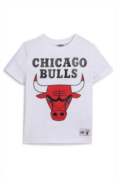 Younger Boy White NBA Chicago Bulls T-Shirt