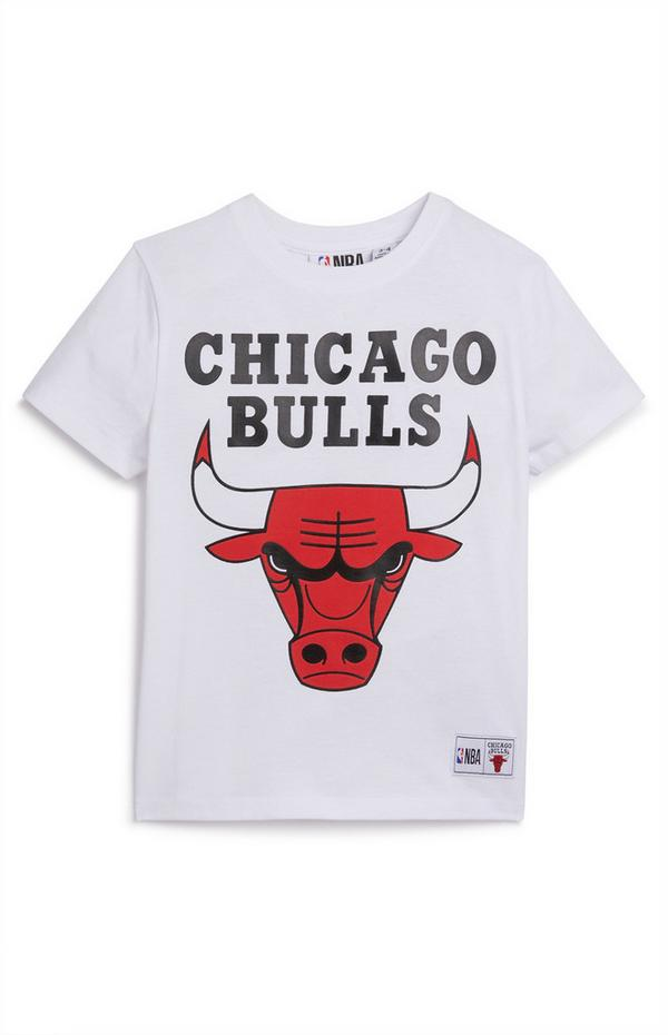 T-shirt bianca NBA Chicago Bulls da bambino
