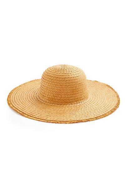 Straw Frayed Egde Floppy Sun Hat