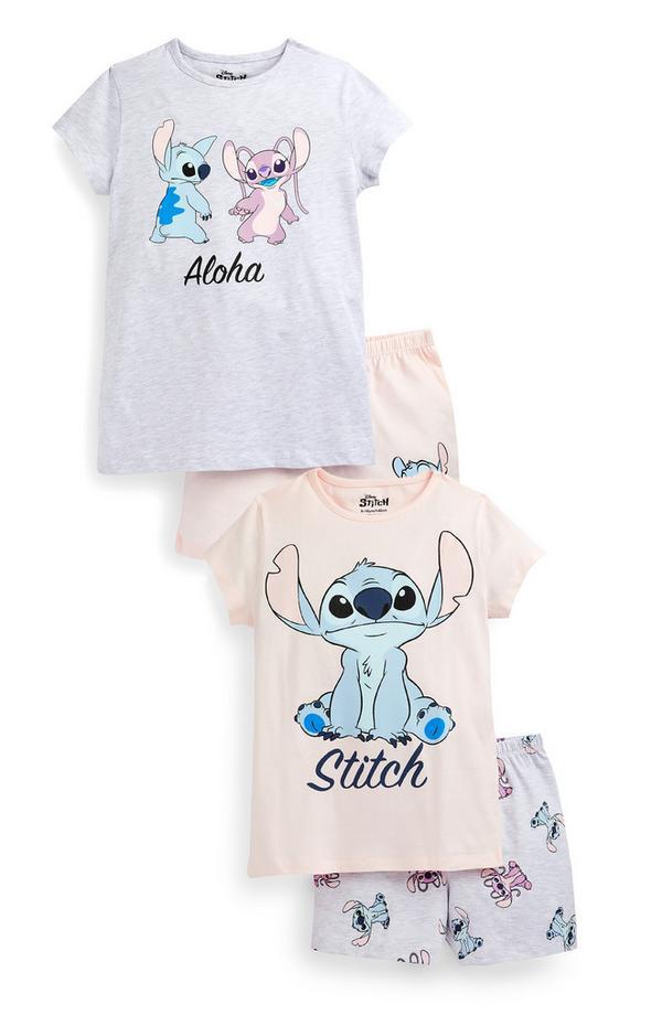 Pyjama's Lilo & Stitch voor meisjes, set van 2
