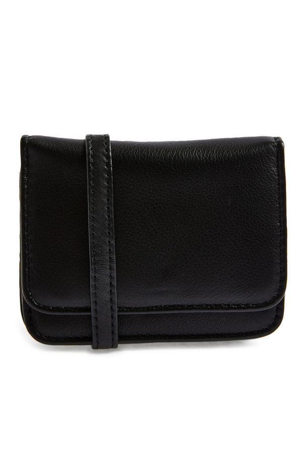 Črna premium moška torbica iz umetnega usnja