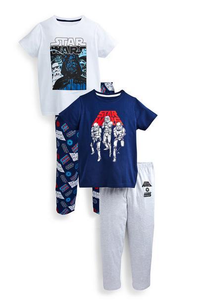 2 pigiami blu navy Star Wars da ragazzo